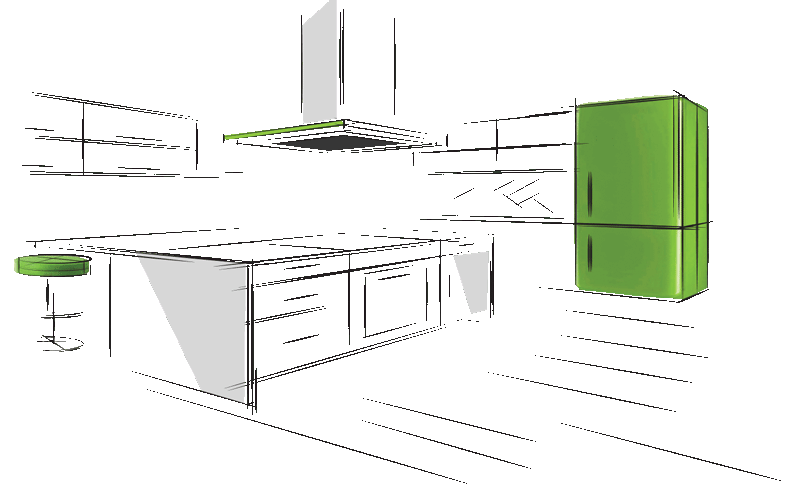 3d and 2d modular kitchen planning before manufacturing your kitchen in delhi and gurgaon