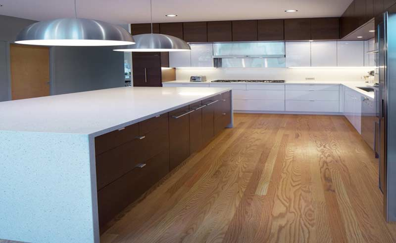modular kitchens with islands and lot of storage options