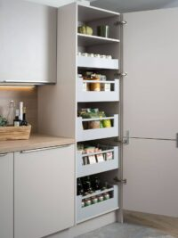 blum pantry unit space tower antaro drawers installed by design indian kitchen in gurgaon & delhi