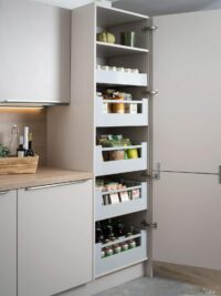 blum space grey tandom box pantry unit in gurgaon