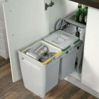 blum inbult pull out dustbin fittings installed by us in gurgaon and delhi