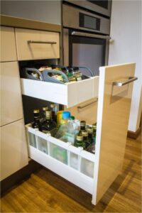 blum internal drawers system intivo installed by design Indian kitchen company in gurgaon & delhi