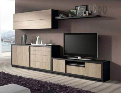 brilliantly planned tv unit with laminated shutters and blum fittings in gurgaon and delhi
