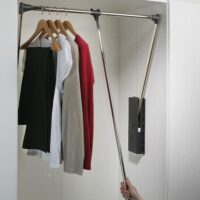 hafele wardrobe clothes rod pull down fittings and installation in gurgaon