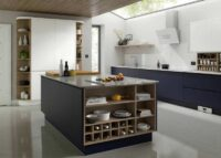 handleless modular kitchen in gurgaon seamless opening of drawers