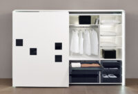 the best in class wardrobe fittings by hettich is the inline fittings which makes both doors close in a straight line