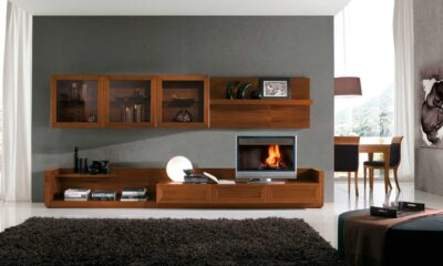 tv units for living room with ample storage manufactured by the design indian kitchen gurgaon team