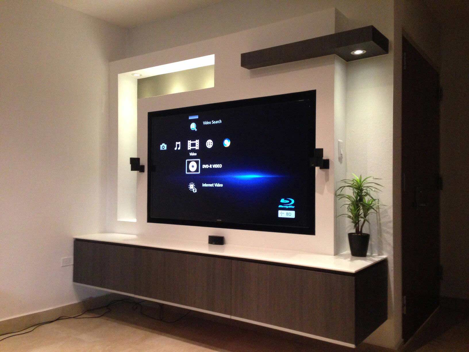 A Compact Tv Units With Lot Of Storage Drawers And Dark Walnut Colour  Combination