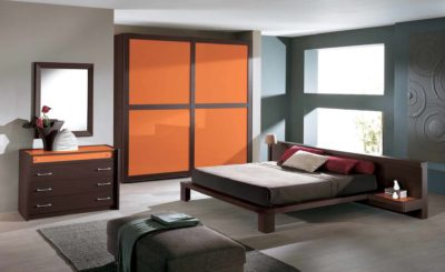 orange lacquer sliding wardrobes by design indian wardrobe company