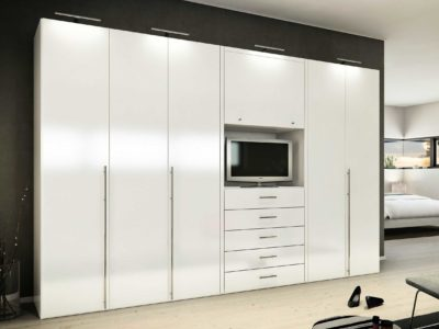 pure white long handled wardrobe and designer lights wardrobe by our company