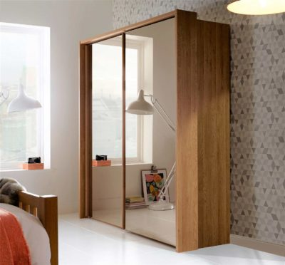 boxed wardrobes with mirror glass shutters and hafele fitting by design indian wardrobe