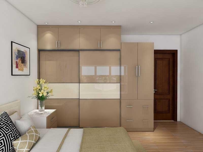 custom made wardrobes in acrylics by the design indian wardrobe company in gurgaon