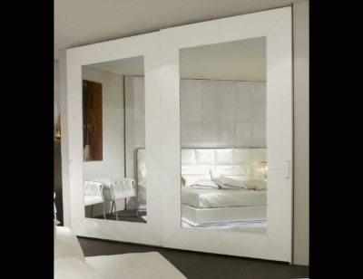 pure white sliding glass wardrobes in gurgaon