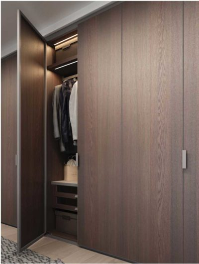 wooden wardrobes with inbuilt sensor lights in delhi and gurgaon