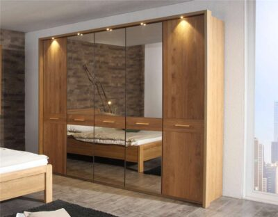 oak wardrobes and glass mirror wardrobes in gurgaon