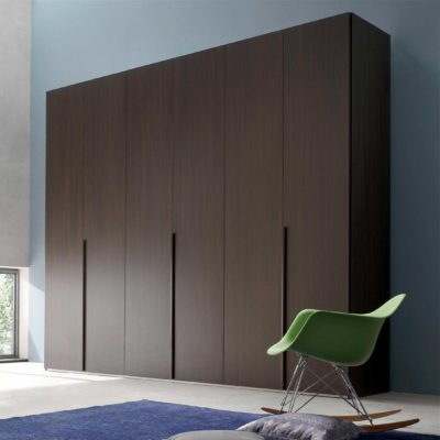 straight line wardrobes with long wooden handles in gurgaon and delhi