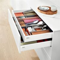 internal modular kitchen drawers system by blum and hafele, premium kitchen fittings and accessories